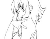 <span class='hidden-xs'>Coloriage de </span>Megpoid Gumi Vocaloid à colorier