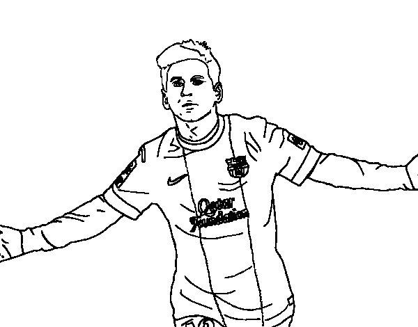 Coloriage de Messi pour Colorier
