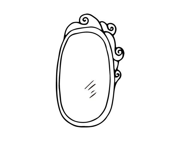 Coloriage de miroir encadr pour colorier for Miroir encadre