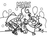 Dibujo de Mois de mars