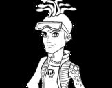 <span class='hidden-xs'>Coloriage de </span>Monster High Deuce Gorgon à colorier
