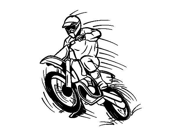 Coloriage de moto cross pour colorier - Coloriage de moto cross ...