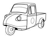 <span class='hidden-xs'>Coloriage de </span>Motocyclette fourgonnette à colorier