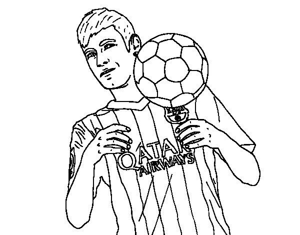 Coloriage de Neymar Barça pour Colorier