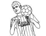 <span class='hidden-xs'>Coloriage de </span>Neymar Barça à colorier