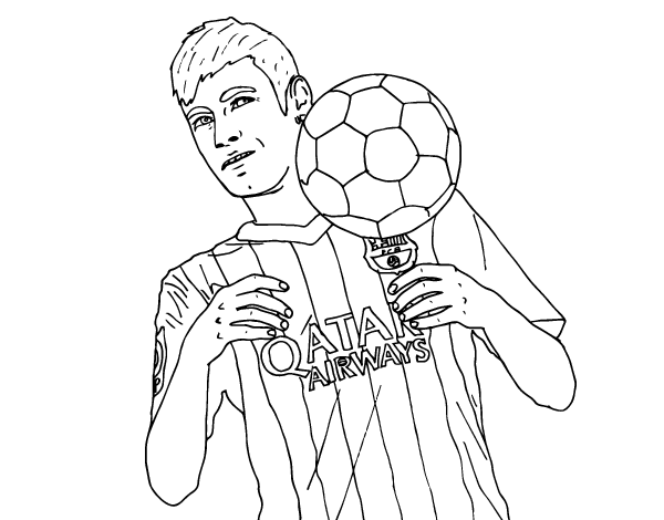 coloriage de neymar bar u00e7a pour colorier
