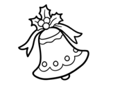 <span class='hidden-xs'>Coloriage de </span>Noël cloche à colorier