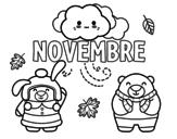 <span class='hidden-xs'>Coloriage de </span>Novembre à colorier