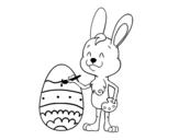<span class='hidden-xs'>Coloriage de </span>Oeuf de Pâques à colorier à colorier
