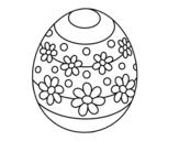 <span class='hidden-xs'>Coloriage de </span>Oeuf de Pâques au printemps à colorier