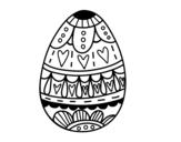 <span class='hidden-xs'>Coloriage de </span>Oeuf de Pâques avec des coeurs à colorier