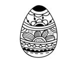 <span class='hidden-xs'>Coloriage de </span>Oeuf de Pâques avec imprimé floral à colorier