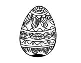 <span class='hidden-xs'>Coloriage de </span>Oeuf de Pâques avec motif végétal à colorier