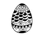 <span class='hidden-xs'>Coloriage de </span> oeuf de Páques de style japonais à colorier