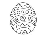 <span class='hidden-xs'>Coloriage de </span>Oeuf de pâques DIY à colorier
