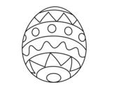 <span class='hidden-xs'>Coloriage de </span>Oeuf de Pâques infantile à colorier