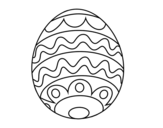 <span class='hidden-xs'>Coloriage de </span>Oeuf de pâques pour les enfants à colorier