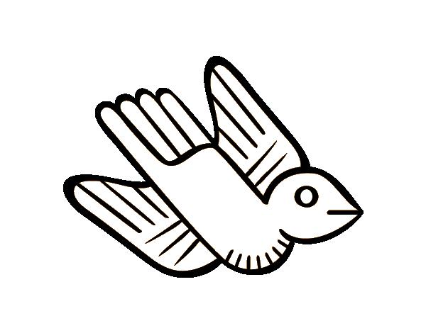 Coloriage de oiseau azt que pour colorier - Dessin azteque ...