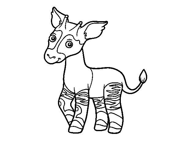 Coloriage de Okapi pour Colorier