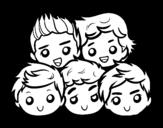 <span class='hidden-xs'>Coloriage de </span>One Direction 2 à colorier
