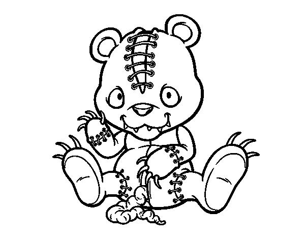 emo bear coloring pages | Coloriage de Ourson terrífico pour Colorier - Coloritou.com