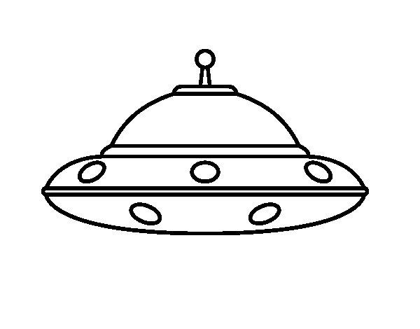 Coloriage de OVNI alien pour Colorier