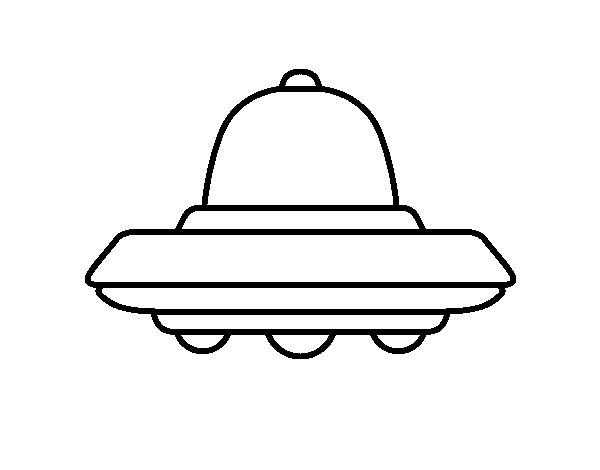 Coloriage de OVNI volant pour Colorier