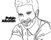 <span class='hidden-xs'>Coloriage de </span>Pablo Alborán premier plan à colorier