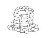 <span class='hidden-xs'>Coloriage de </span>Pancakes à colorier