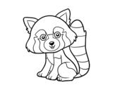 <span class='hidden-xs'>Coloriage de </span>Panda roux à colorier