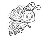 <span class='hidden-xs'>Coloriage de </span>Papillon coquette à colorier