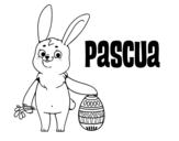<span class='hidden-xs'>Coloriage de </span>Pâques à colorier