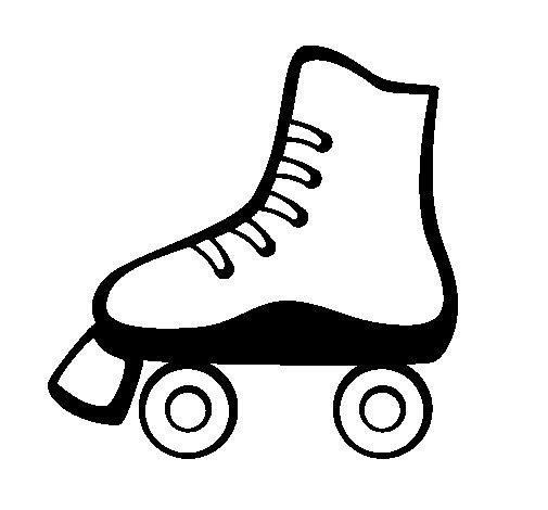 coloriage de patin à roulettes pour colorier coloritou com