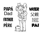 Dibujo de  Père et fils avec un chapeau