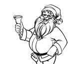 <span class='hidden-xs'>Coloriage de </span> Père Noël avec cloche à colorier