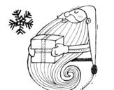 Dibujo de Père Noël avec un cadeau
