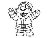 <span class='hidden-xs'>Coloriage de </span>Père Noël rire à colorier