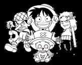 <span class='hidden-xs'>Coloriage de </span>Personagges One Piece à colorier