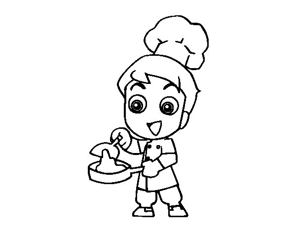 Coloriage de Petit chef pour Colorier