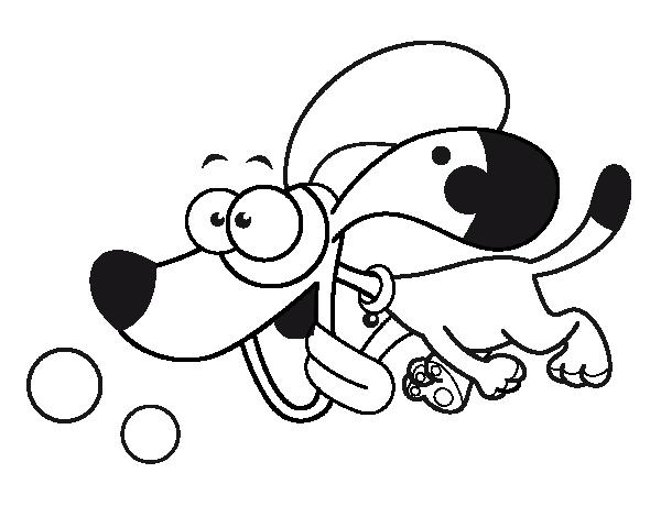 coloriage de petit chien qui court pour colorier. Black Bedroom Furniture Sets. Home Design Ideas