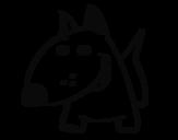 <span class='hidden-xs'>Coloriage de </span>Petit chien V à colorier