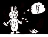 <span class='hidden-xs'>Coloriage de </span>Petit lapin avec carotte à colorier