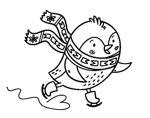 Coloriage de Petit patin à oiseaux pour Colorier