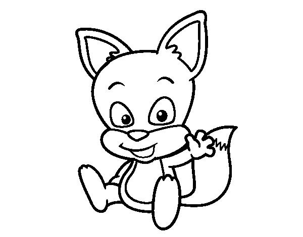 Coloriage de petit renard pour colorier - Coloriage petit renard ...