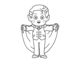<span class='hidden-xs'>Coloriage de </span>Petit vampire à colorier