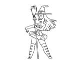 <span class='hidden-xs'>Coloriage de </span>Petite sorcière sexy à colorier