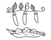 Dibujo de Petits pois verts