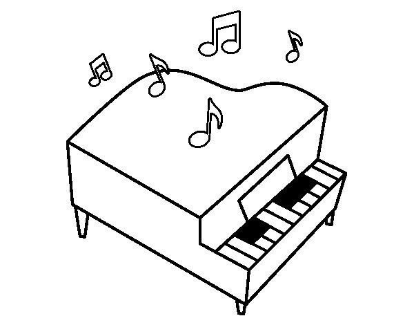 Top Coloriage de Piano à queue pour Colorier - Coloritou.com US09