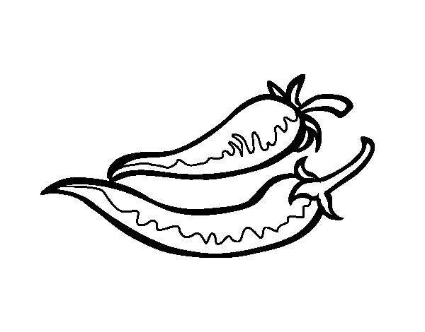 Coloriage de piments pour colorier - Dessin piment ...