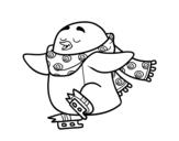 Dibujo de Pingouin patinage sur glace